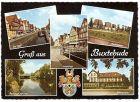 AK Buxtehude - Am Fleet, Westfleet, Hochhäuser, Partie an der Este, Altersheim (342)
