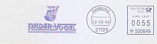Freistempel H500649 Hamburg - RÄDER-VOGEL (Abb. Radquerschnitt) (#470)