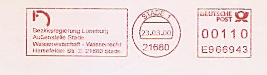 Freistempel E966943 Stade - Bezirksregierung Lüneburg - Außenstelle Stade - Wasserwirtschaft - Wasserrecht (#474)