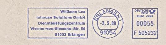 Freistempel F505232 Erlangen - Williams Lea Inhouse Solutions GmbH (#477)