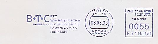 Freistempel F719550 Köln - BTC - BASF Group - BTC Speciality Chemical Distribution GmbH (#478)