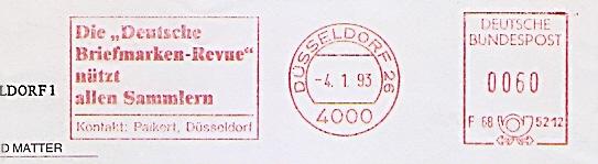 Freistempel F68 5212 Düsseldorf - Die \