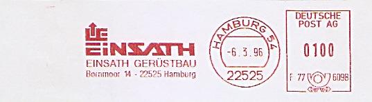 Freistempel F77 6098 Hamburg - Einsath Gerüstbau (#483)