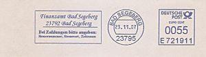 Freistempel E721911 Bad Segeberg - Finanzamt Bad Segeberg (#489)