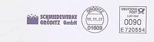 Freistempel E720554 Gröditz - Schmiedewerke Gröditz GmbH (#490)