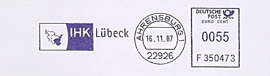 Freistempel F350473 Ahrensburg - IHK Lübeck (#491)