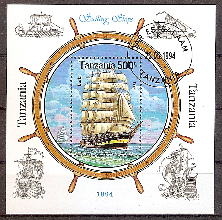 Tansania Block 244 o Segelschiff (2019184)