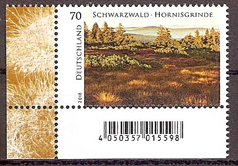 BRD 3428 ** Hornisgrinde im Schwarzwald 2018 - Bogenecke u.l. - Barcode (2019203)