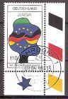 BRD 1985 o Europa CEPT 1998 - Tag der deutschen Einheit - Bogenecke u.r. - Vollstempel Bahrdorf (2019207)