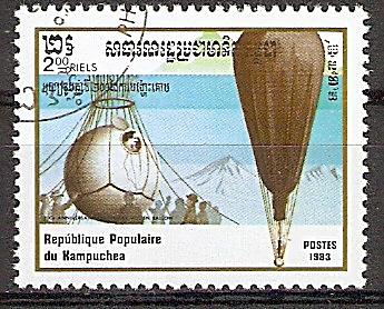 Kambodscha 493 o 200 Jahre Luftfahrt 1983 / Stratosphärenballon F.N.R.S. von Auguste Piccard (2019209)