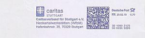 Freistempel 3D10002125 Stuttgart - Caritas Stuttgart - Caritasverband für Stuttgart e.V. - Neckartalwerkstätten WfbM  (#492)