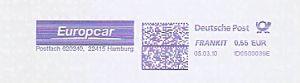 Freistempel 1D0500039E Hamburg - Europcar (#502)