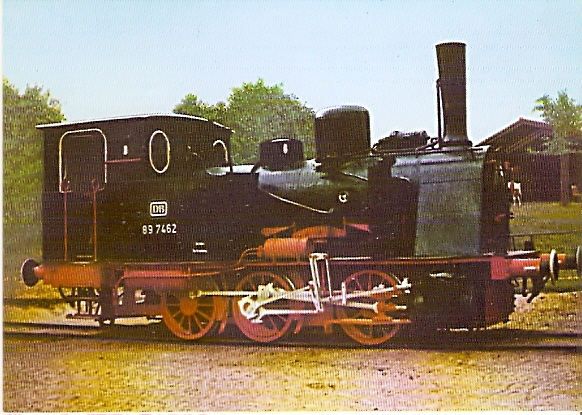 AK Güterzug-Dampftenderlokomotive BR 89 7462 (1182)
