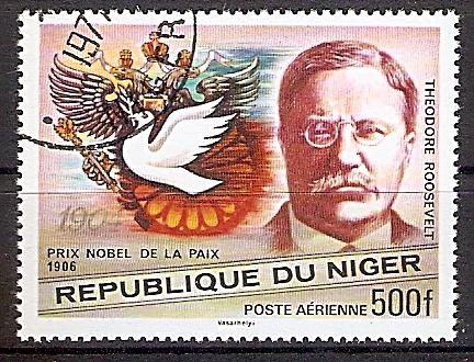 Niger 591 o Theodore Roosevelt, Friedensnobelpreis 1906 (2019222)