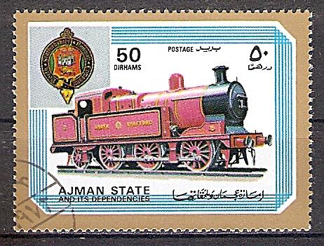 Ajman 1850 A o  Dampflok der North Stafford (2019238)
