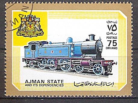 Ajman 1851 A o Dampflok der Caledonian Railway (2019239)