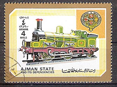 Ajman 1855 A o Dampflok der London, Chatham & Dover Railway (2019240)