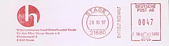 Freistempel F70 1602 Stade - Unternehmerverband Einzelhandel Stade für den Elbe-Weser-Raum e.V. (#520)