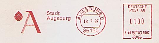 Freistempel F68 6002 Augsburg - Stadt Augsburg (#521)