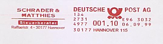 Freistempel E96 3032 Hannover - Schrader & Matthies - Steuerberater (#522)
