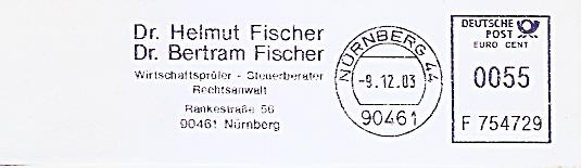 Freistempel F754729 Nürnberg - Dr. Helmut Fischer & Dr. Bertram Fischer / Wirtschaftsprüfer - Steuerberater - Rechtsanwalt (#523)