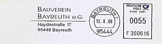 Freistempel F350616 Bayreuth - Bauverein Bayreuth e.G. (#524)