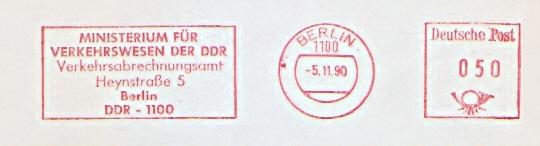 Freistempel DDR - Berlin - Ministerium für Verkehrswesen der DDR - Verkehrsabrechnungsamt (#530)