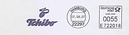 Freistempel E722018 Hamburg - Tchibo (Abb. Kaffeebohne) (#532)