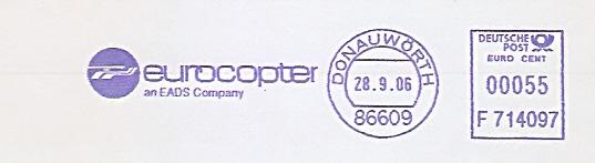 Freistempel F714097 Donauwörth - eurocopter an EADS Company (Abb. Hubschrauber) (#534)