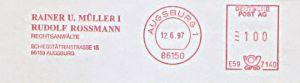 Freistempel E59 7140 Augsburg - Rechtsanwälte Rainer U. Müller & Rudolf Rossmann (#541)