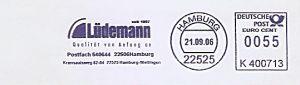 Freistempel K400713 Hamburg - Lüdemann seit 1897 - Qualität von Anfang an (#567)