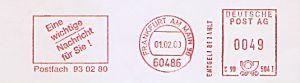 Freistempel C90 504I Frankfurt am Main - Postfach 93 02 80 - Eine wichtige Nachricht für Sie ! (#584)