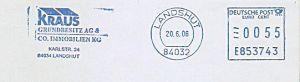 Freistempel E853743 Landshut - Kraus Grundbesitz AG (#598)