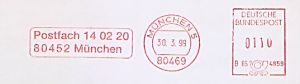 Freistempel B66 4859 München - Aboservice CSJ (#620)