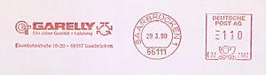 Freistempel E22 7102 Saarbrücken - GARELLY - 120 Jahre Qualität + Leistung (#623)