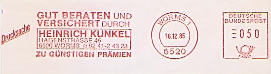 Freistempel Worms - Gut beraten und versichert durch Heinrich Kunkel zu günstigen Prämien (#673)