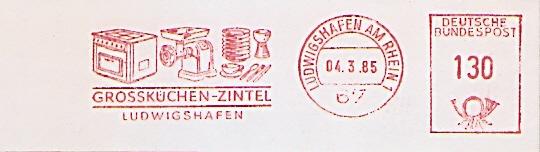 Freistempel Ludwigshafen am Rhein - Grossküchen Zintel (Abb. Küchengeräte) (#675)