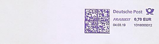 Freistempel 1D18000012 (Kein Werbeklischee !) (#680)