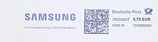 Freistempel 1D1900045D Schwalbach - SAMSUNG (#686)