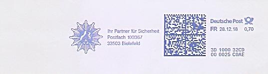 Freistempel 3D100032CD Bielefeld - Ihr Partner für Sicherheit (Abb. Polizeistern) (#687)
