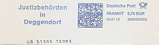 Freistempel 3D060002C6 Deggendorf - Justizbehörden in Deggendorf (#689)