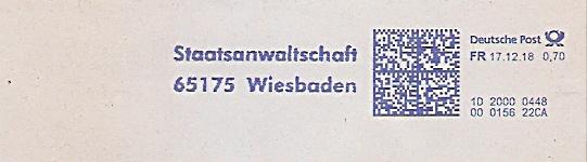 Freistempel 1D20000488 Wiesbaden - Staatsanwaltschaft (#690)