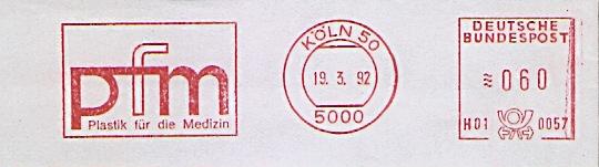 Freistempel H01 0057 Köln - pfm Plastik für die Medizin (#693)