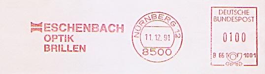 Freistempel B66 1001 Nürnberg - ESCHENBACH OPTIK BRILLEN (#694)