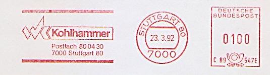 Freistempel C89 547E Stuttgart - Kohlhammer (#695)