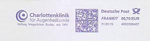 Freistempel 4D02006407 Stuttgart - Charlottenklinik für Augenheilkunde - Stiftung bürgerlichen Rechts, seit 1891 (#730)