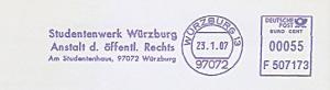 Freistempel F507173 Würzburg - Studentenwerk Würzburg (#753)