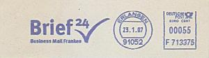 Freistempel F713375 Erlangen - Brief24 Business Mail Franken (#754)