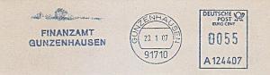 Freistempel A124407 Gunzenhausen - Finanzamt Gunzenhausen (#756)
