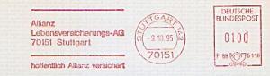 Freistempel F68 5118 Stuttgart - Allianz Lebensversicherungs-AG... hoffentlich Allianz versichert (#759)